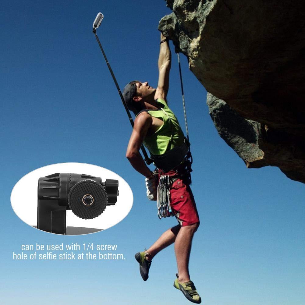 arrampicata Supporto per telecamera per esterno Supporto per staffa per cintura Hero 7//6//5//4//3 +//3//2//1 Supporto per videocamera sportiva Morsetti per corsa escursioni Staffa per cintura fotocamera