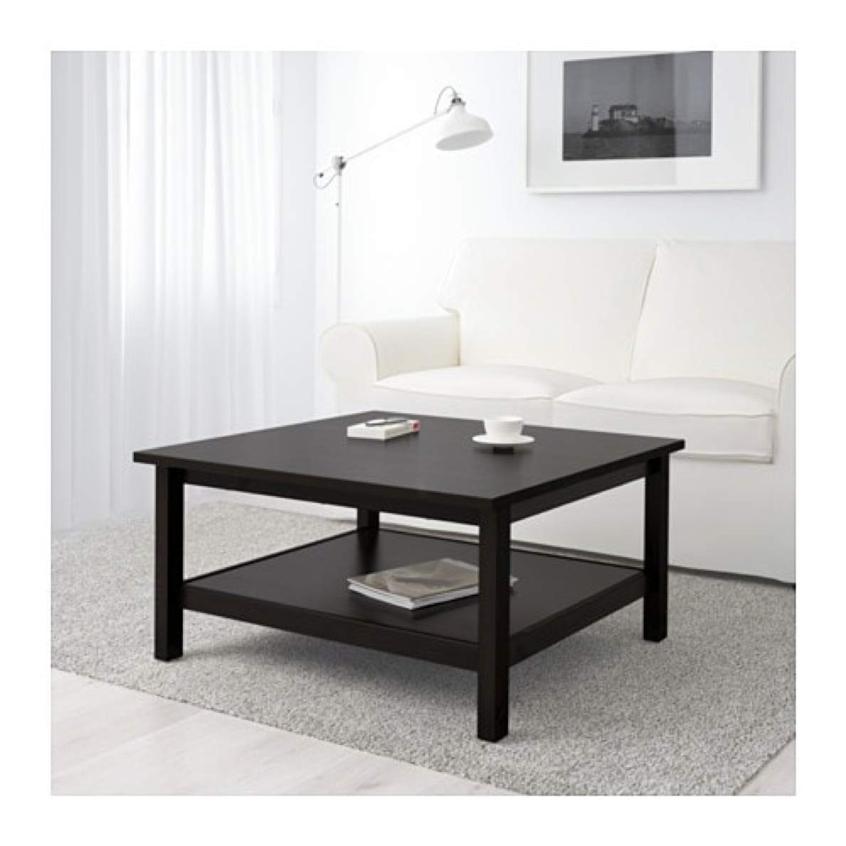 Superb Amazon Com Ikea Hemnes Coffee Table Black Brown 101 762 92 Pabps2019 Chair Design Images Pabps2019Com