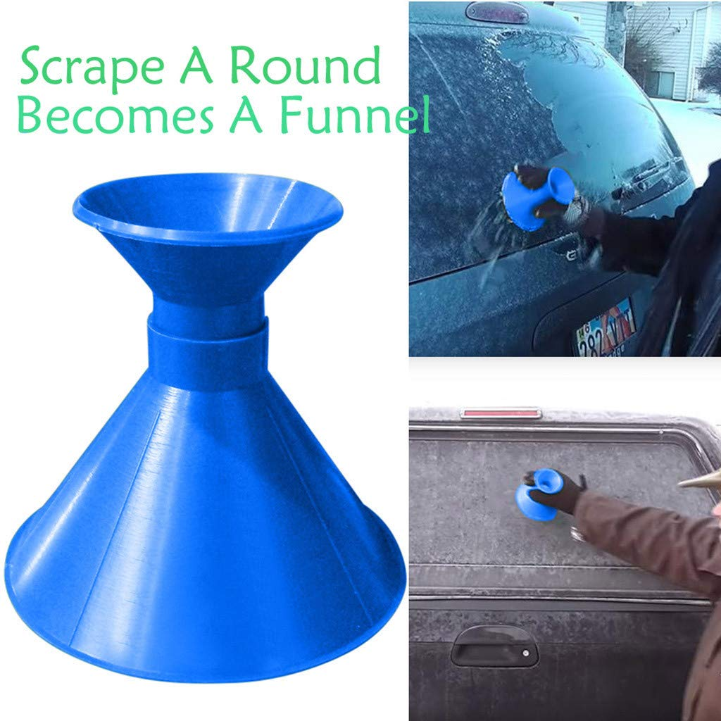 Twinsmall Wow!!!Scrape A Round Magic Cone-Shaped Windshield Ice Scraper Snow Becomes A Funnel