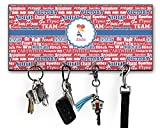 RNK Shops Cheerleader Key Hanger w/ 4 Hooks (Personalized)