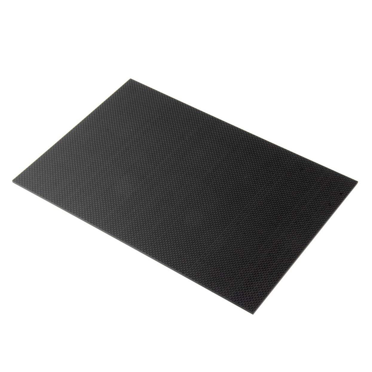 LoveOlvidoF Plaque Noire 100% de Fibre de Carbone à la Maison 200 * 300 * 3mm avec Les Deux côtés