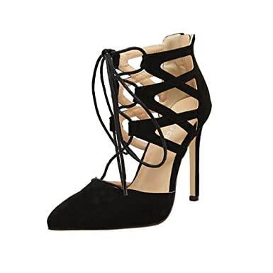 62fbebee591f6 Amazon.com: Claystyle Women's Fashion Stilettos Closed Toe Pump Heel ...