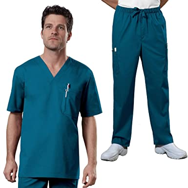 da35b180581 Image Unavailable. Image not available for. Color: Cherokee Core Stretch Workwear  Men's V-Neck Top & Utility Pant Scrub ...