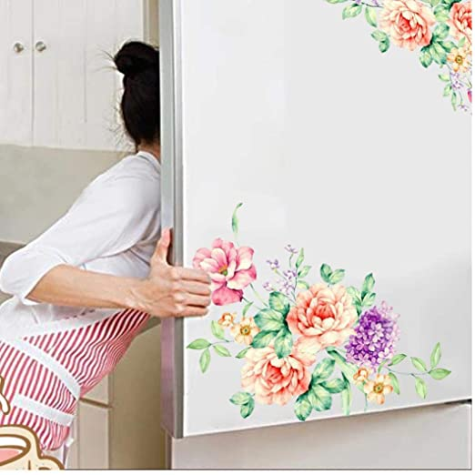 PiniceCore Flores de Colores en 3D Pegatinas de Pared Hermosa ...