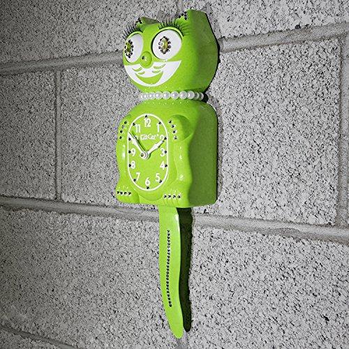 Kit Cat Klock Jeweled Limited Edition Lady (Fun Chartreuse)
