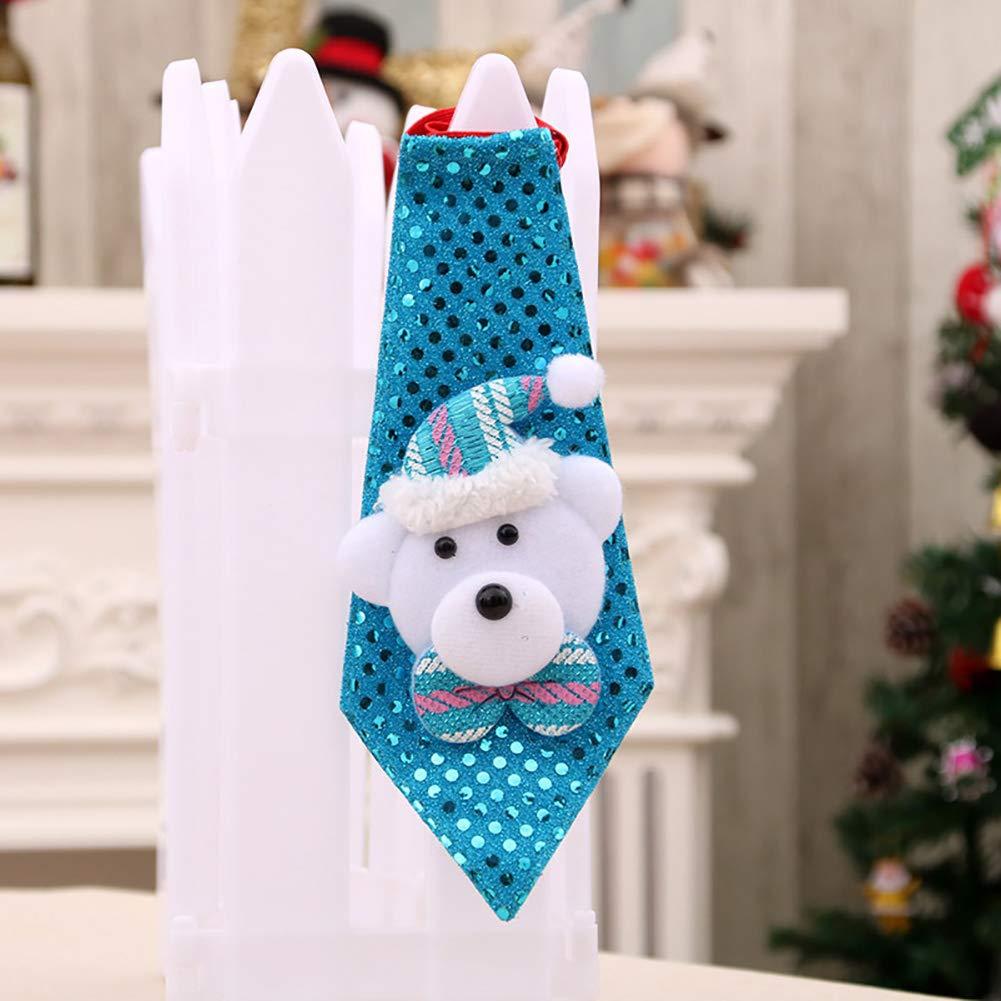 PoeHXtyy Cravatte Natalizie Regolabili per Bambini per Bambini Giocattolo Grooming Papillon Cravatta casa Natale Decorazione Ornamenti