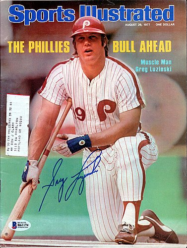 Sports Illustrated - August 29, 1977, Vol 47, No. 9: The Phillies Bull Ahead - Muscle Man Greg Luzinski (Time Jerseys Old Hockey)