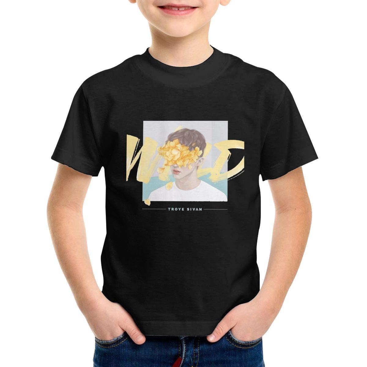 Patricia M Rivas Troye Sivan Toddler Little Boys Cute Black Cotton Tees Shirt Tops