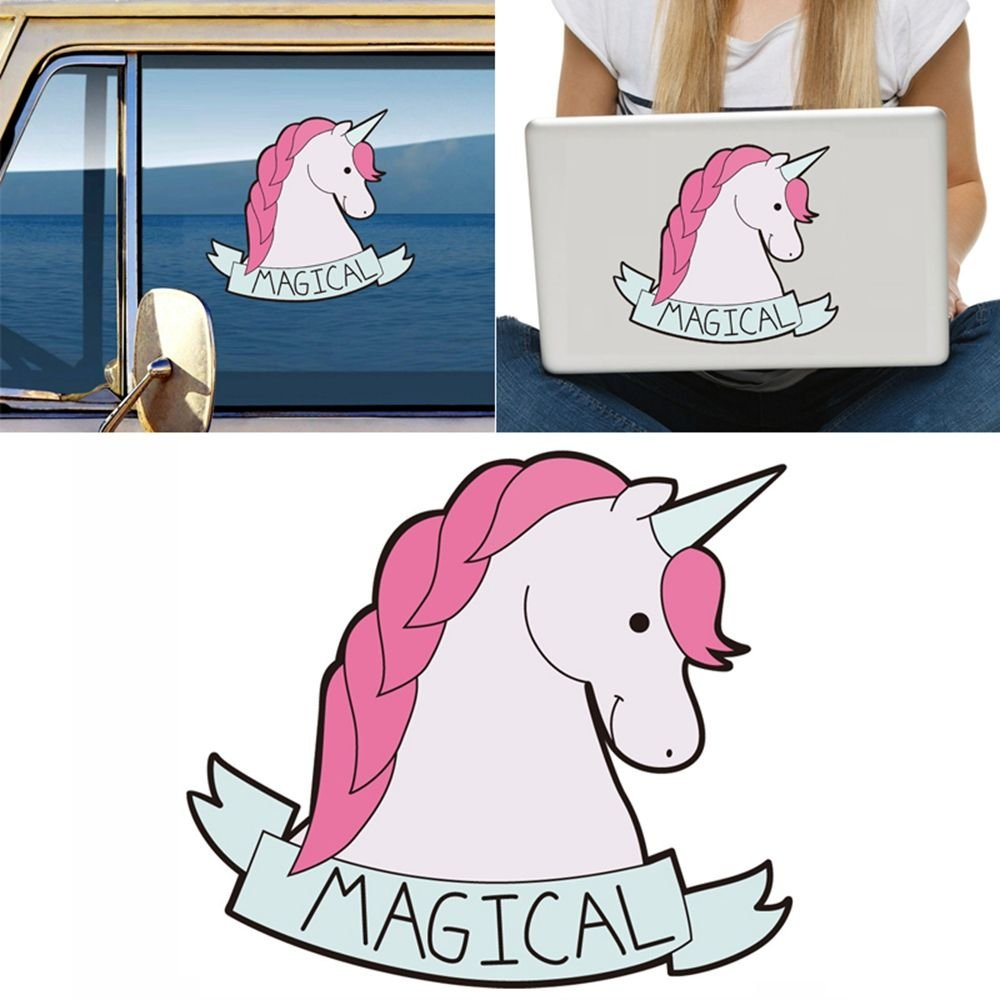 Magical Unicorn Horse Car Sticker Decal For Metope Laptop Luggage Car Decorative outopen