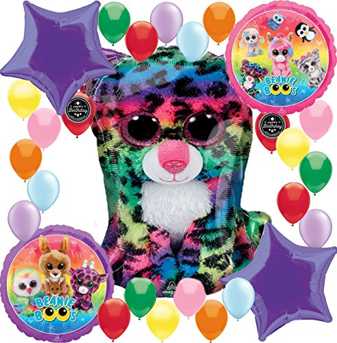 (Combined Brands Beanie Boo's Girls Birthday Party Supplies Balloon Decoration Bundle For (XL Deluxe Super)