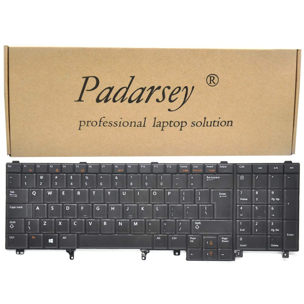 Dell OEM 7T425 Backlit Black Keyboard NSK-DW2BC Latitude E5530 E6530 Precision M4600 M6600