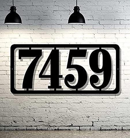 Simple & Modern Custom Metal Address Sign EXTRA Large House Numbers - Custom Steel Address Sign (Steel House Numbers)
