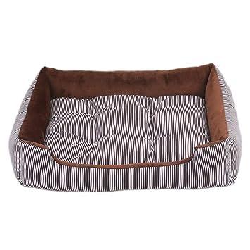 zhenghewyh Cama Perros Gato Cesta Mascotas Pequeña Medio Grande Lavable Cojín Reversible (L, Café): Amazon.es: Productos para mascotas