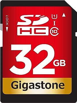 Gigastone Tarjeta de Memoria Micro SDXC de 32GB U1. Lectura Rendimiento hasta 80 MB/s.Alta Velocidad de Vídeo Full HD Canon Nikon Sony Pentax Kodak Olympus Panasonic Cámara Digital etc.: Amazon.es: Electrónica