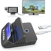 Zacro Switch Dock Base Portátiles,Bluetooth Audio,2K HDMI,Type-C a