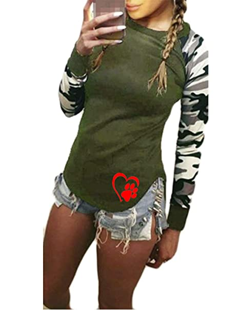 Amazon.com: YUNY Womens Long Sleeve Print Pullover Patchwork ...