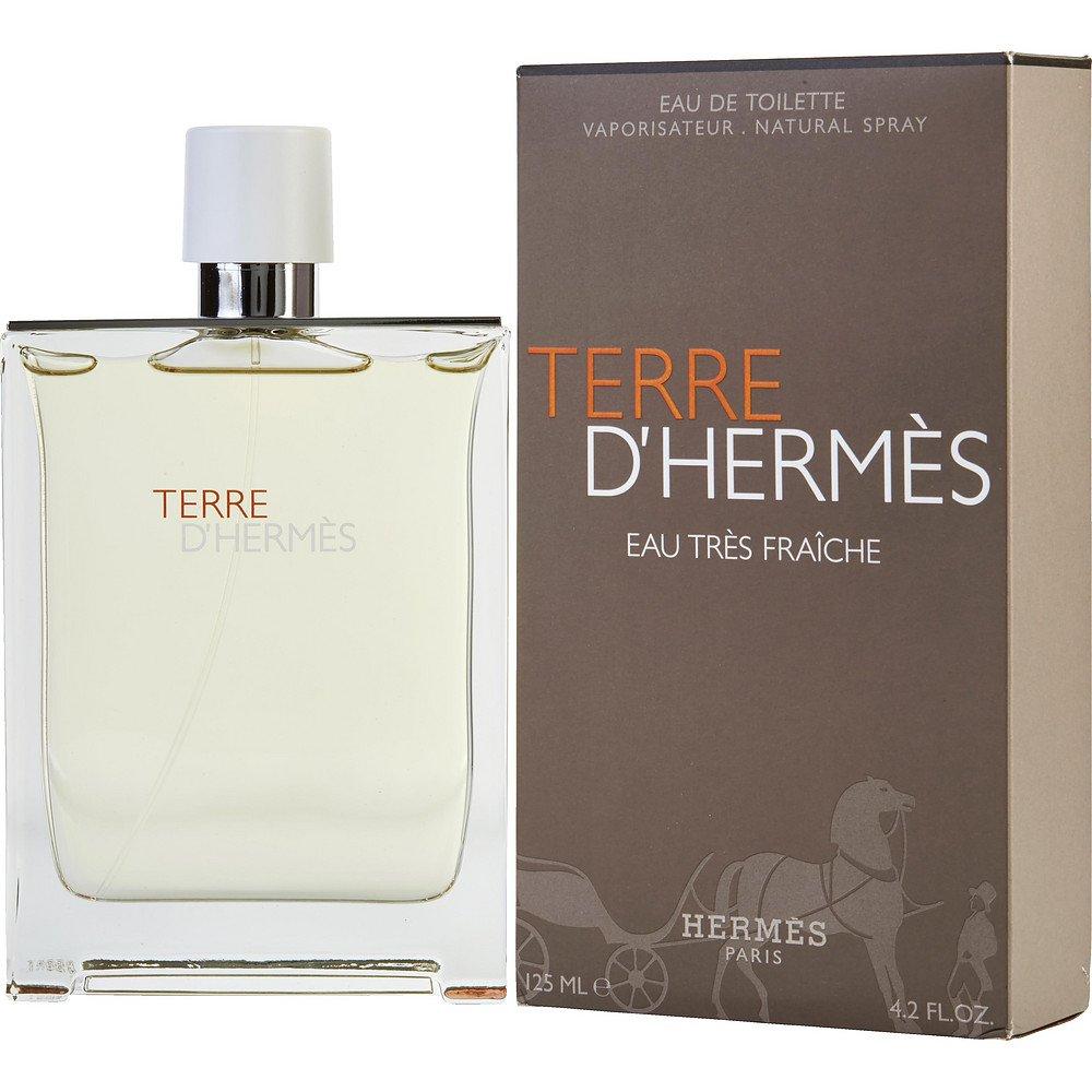 TERRE D'HERMES by Hermes EAU TRES FRAICHE EDT SPRAY 4.2 OZ for MEN (Package of 3 )