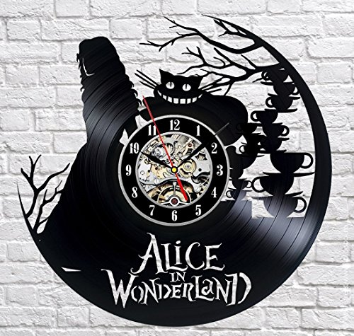 Alice In Wonderland Vinyl Record Wall Clock - Decorate your home with Modern Large Disney Art - Gift for kids, girls and boys - Win a prize for a feedback Is Disney World Open On Christmas Day