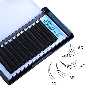 c4424b4e835 Amazon.com : Easy Fan Volume Lashes D curl 0.07mm 17mm 4D 5D 6D 7D Stable  Curl Rapid Blooming Eyelash Extensions 8D 10D 20D Cluster Lashes Knot-free  by ...