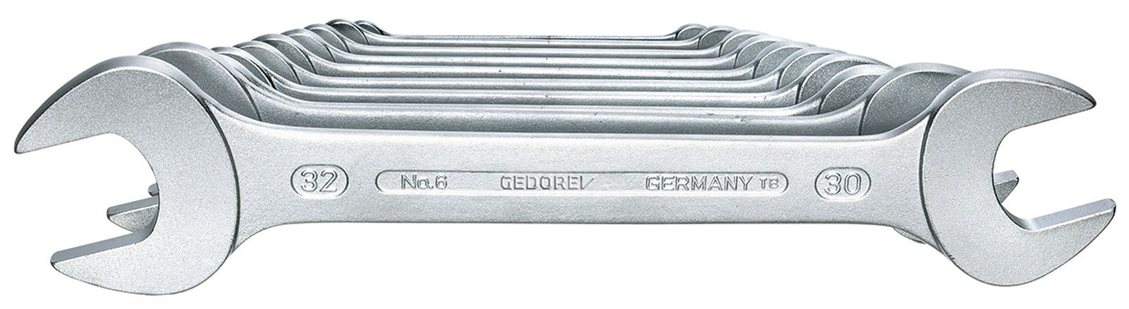 GEDORE 6-122 ISO Double open ended spanner set 12 pcs 6-34 mm