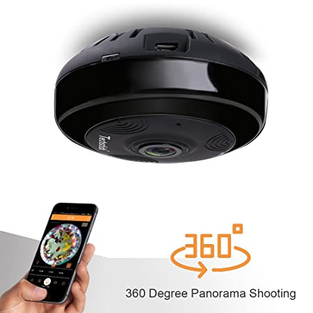 Techstick IP Camera Wireless WiFi Indoor Security Camera Home Surveillance  System Baby Pet Monitor, 360