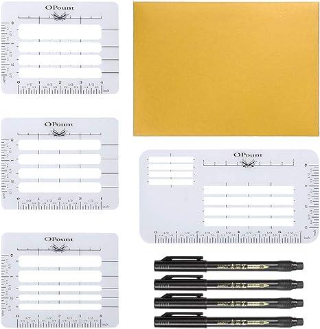 OPount Envelope Addressing Guide Stencil Template Fits Wide Range of Envelopes,