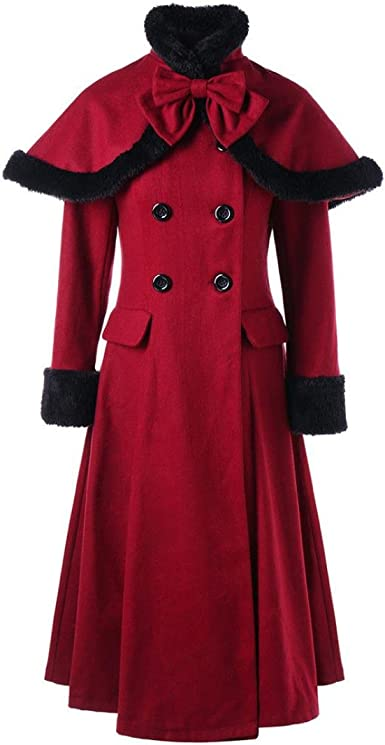 Womens Slim Fit Warmwool Blend Trench Coats Parka Overcoats