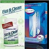 #7: 1 Bottle Fizz Clean Teeth Fresh Without Toothbrush Whitening, (14 Days) Teeth Whitening Strips, 1 Whitening Pen Kit