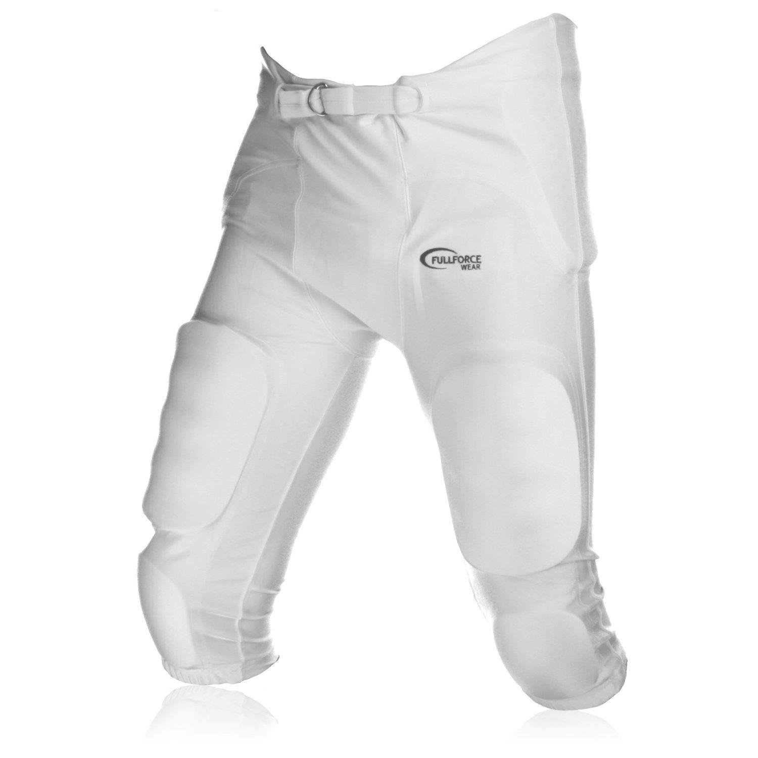'Full Force American Football Crusher 7 Pocket Pad' All in One Game Pant, White, Size S – 2XL Size S - 2XL Full Force Wear