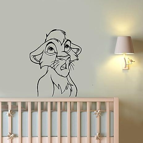 Amazoncom Simba Wall Art Decal Lion King Vinyl Sticker Disney - Lion king nursery wall decals
