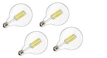 iLumen 110V G95/G30 6Watt Large Globe Shape Dimmable Filament Bulb Vintage Edison LED Light Forma de Globo Regulable Bombilla Warm White 2700 K, E26 Base, ...