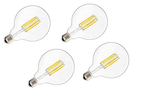 iLumen 110V G95/G30 6Watt Large Globe Shape Dimmable Filament Bulb Vintage Edison LED Light