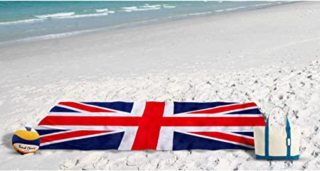 Toalla Playa Estampado de esponja Dibujo Bandera UK: Amazon.es: Hogar