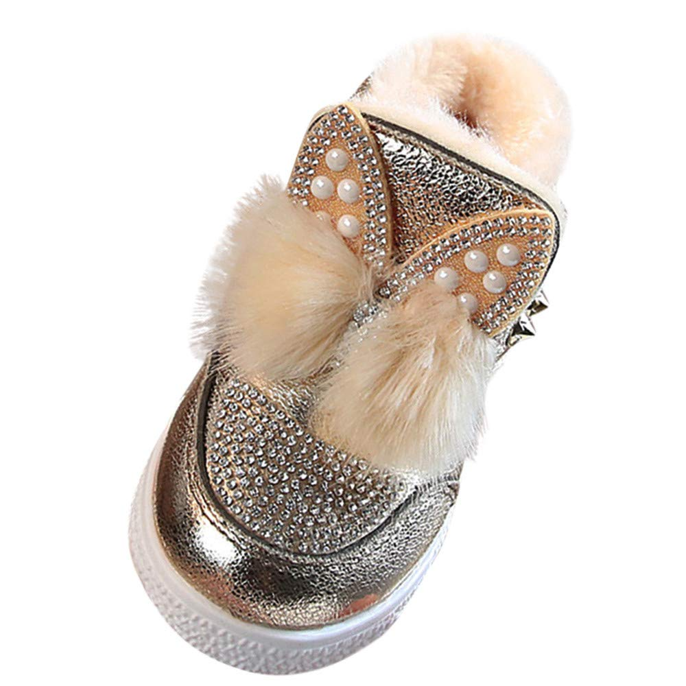 Baby Toddler Girls Fall Winter Boots Shoes 1-6 Years Old ❤️ Kids Bunny Ears Sneaker Warm Anti-Slip Single Shoes