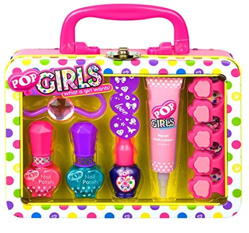 Pop / Geschenk: Kosmetikkoffer (Beauty Case) + Nagellack-Set - für Kinder