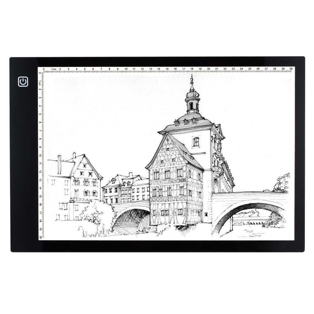 Yimaler A4 Tracing Light Box LED Artcraft Tracing Light Pad Light Box Tracer Ultra-thin USB Power Stepless Dimmable Brightness LED Drawing Pad for Artists Animation Tracing Drawing Sketching Designing