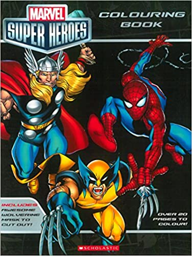 Buy Marvel Super Heroes Colouring Book Book Online at Low Prices in ...