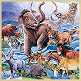 Masterpieces Fun Facts Wood Ice Age Animals Puzzle (48-Piece)