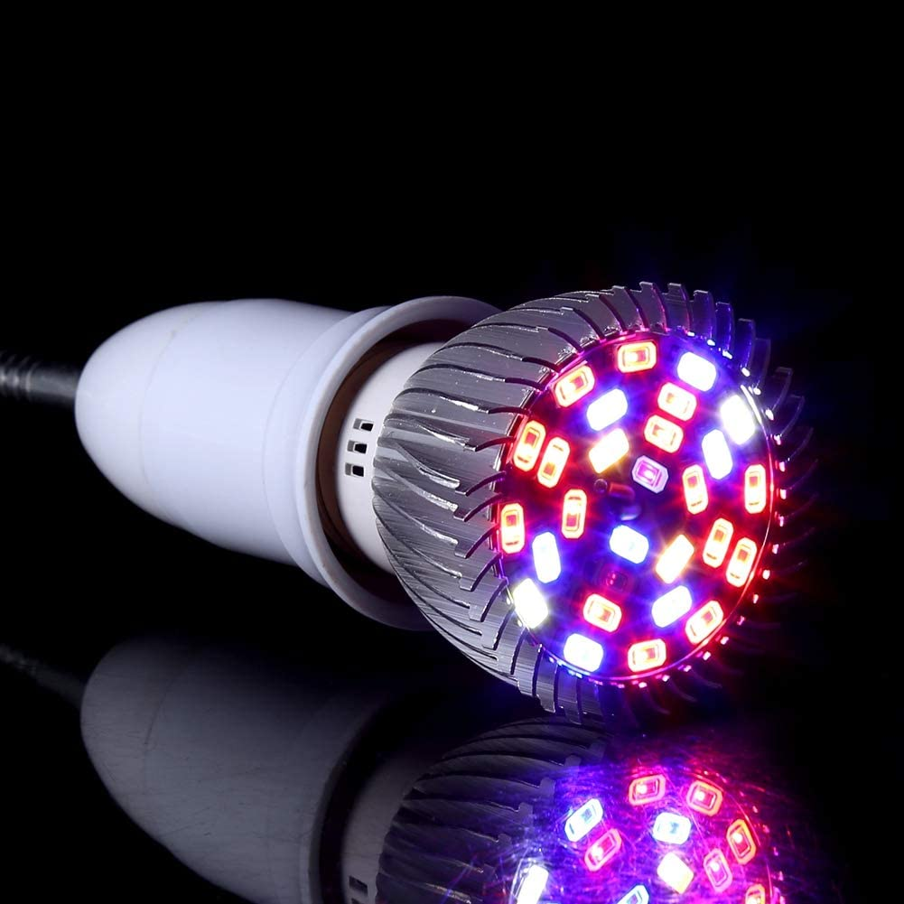 DaMohony LED Plant Grow Light 28W Hydroponic Plant Grow Light Indoor Garden Home Flexible Desk Clamp Lamp New
