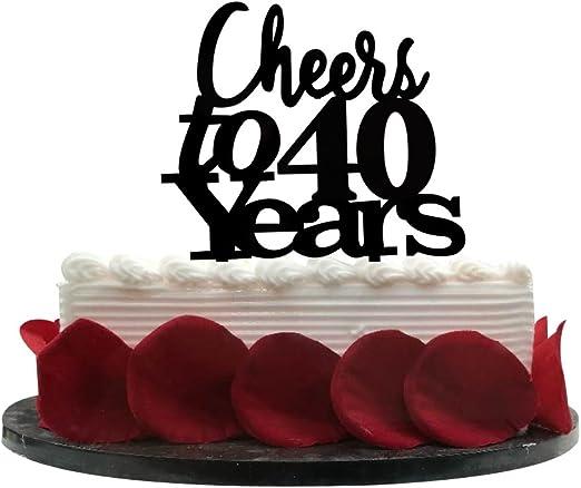 Amazon.com: Cheers a 40 años tarta 40th cumpleaños ...