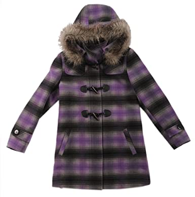 d6ae6a5dcd8d Amazon.com  Rothschild Girls Toggle Front Fur Trim Hood Wool Look ...