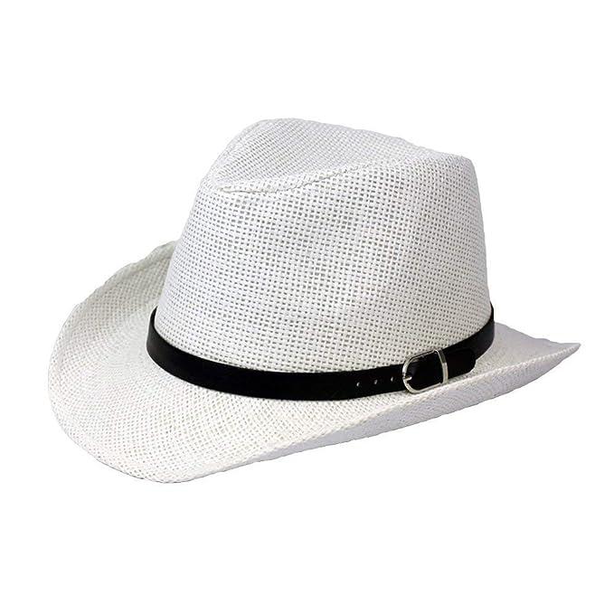 BoBoLily Sombrero De Paja De Verano para Hombre Sombrero Unisex Paja Gorra  De De Especial Estilo Playa Plegable Playa Safari De Vacaciones Sombrero De  ... 743c6a02327