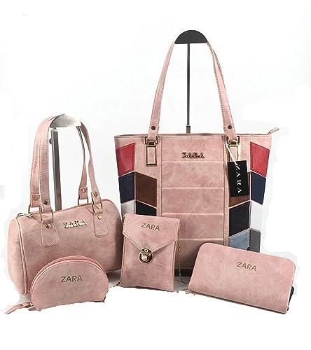 d07cf367fe6 ZARA Women's Leather Handbag/Slingbag / Sling Pouch/ Wallet/Shoulder Bag  Combo (