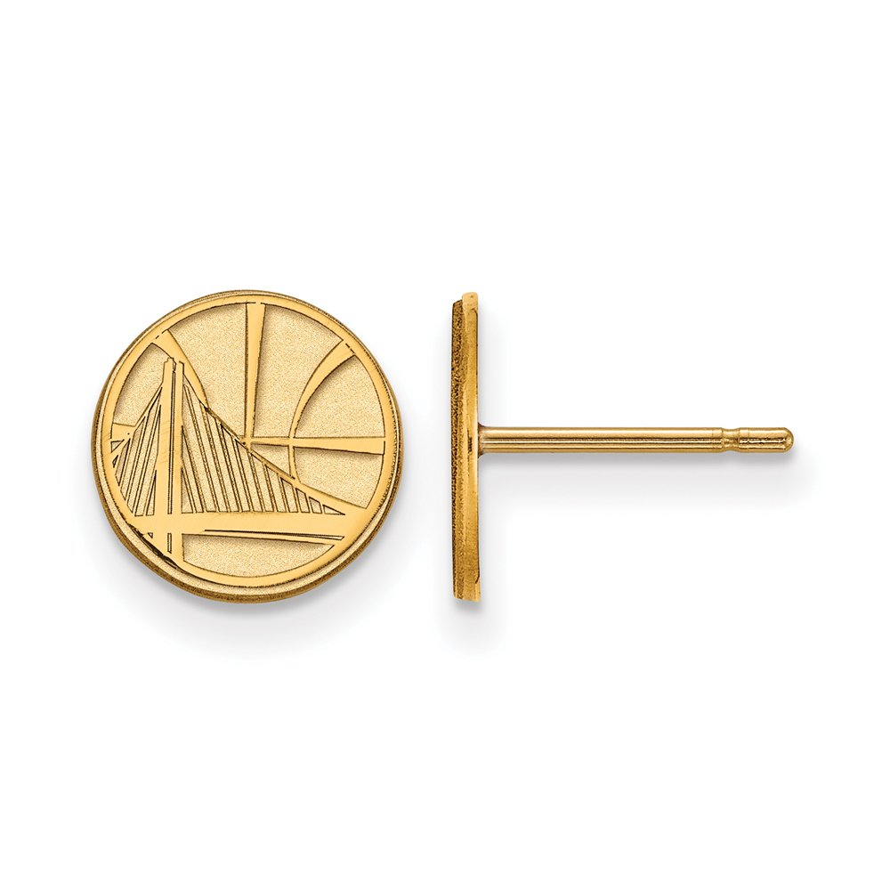 NBA Golden State Warriors X-Small Post Earrings in 10K Yellow Gold