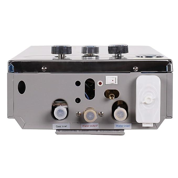 Haobang Sin tanque calentador de agua Gas instantáneo JSD12-S01 6L / Min 12KW (NG): Amazon.es: Bricolaje y herramientas