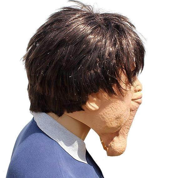 74d4417cf6ba0 Ydq Máscara De La Fiesta De Halloween Accesorios Divertidos Material De Látex  Verde Miedo Horror Gracioso Sombrero Papel Jugar Mascarada  Amazon.es  ...