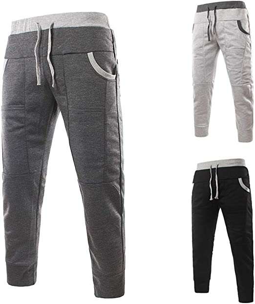 yoyorule Casual Pants Fashion Mens Casual Pure Color Pocket Overalls Wind Overalls Shorts