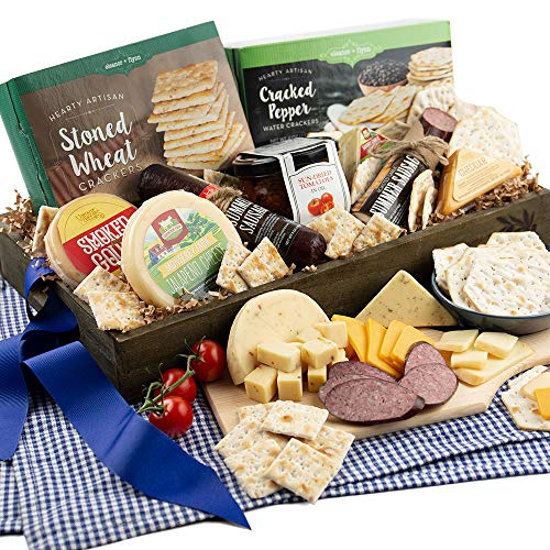 wine meat and cheese gift baskets - 4