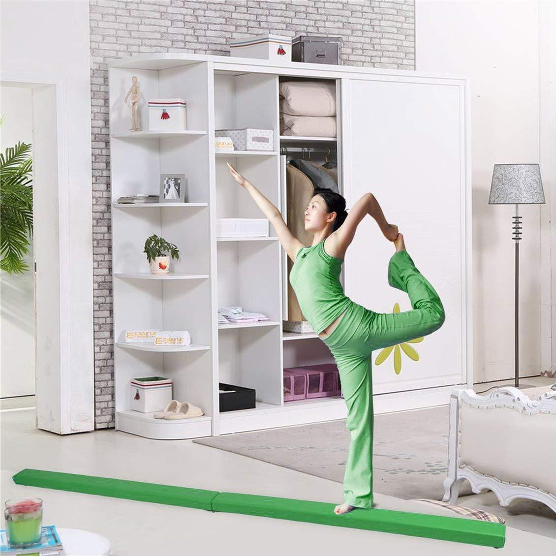 Pgige 2,1 m Pliant la Poutre d/équilibre de Gymnastique Durable Barre Horizontale /à la Maison de Formation de Gymnastique Faisceau d/équilibre Exercice de m/énage Autocollants