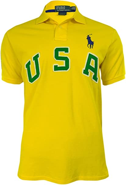 Polo Ralph Lauren Men/'s Custom-Fit USA Polo Shirt